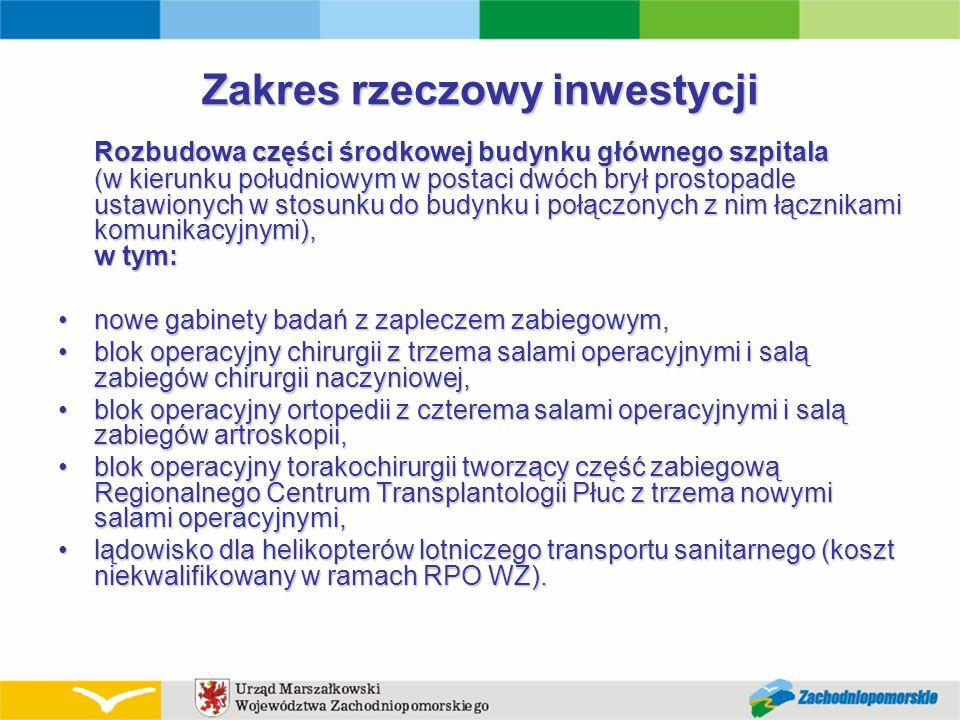 Centrum Zabiegowe z zapleczem łóżkowym w Wojewódzkim Szpitalu Zespolonym w Szczecinie Projekt: Wartość: 47 780 648 zł