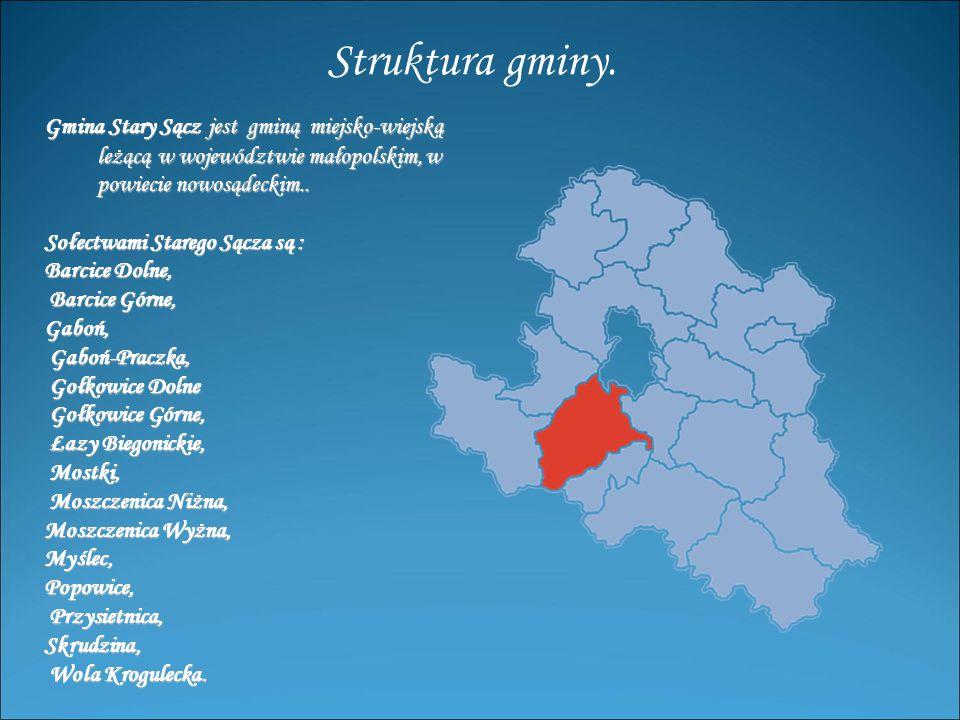 Gmina Stary Sącz jest gminą miejsko-wiejską leżącą w województwie małopolskim, w leżącą w województwie małopolskim, w powiecie nowosądeckim..