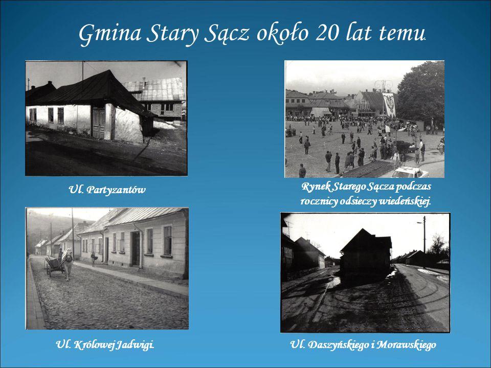 Gmina Stary Sącz około 20 lat temu.Ul. Partyzantów Ul.