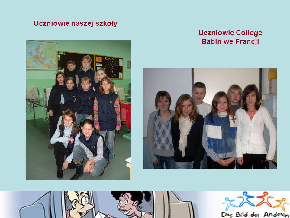 Uczniowie naszej szkoły Uczniowie College Babin we Francji