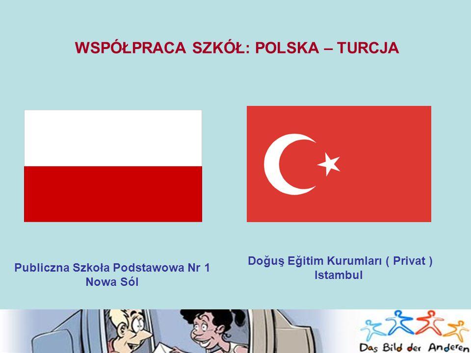 WSPÓŁPRACA SZKÓŁ: POLSKA – TURCJA Publiczna Szkoła Podstawowa Nr 1 Nowa Sól Doğuş Eğitim Kurumları ( Privat ) Istambul