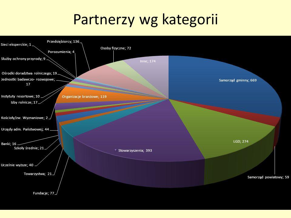 Partnerzy wg kategorii