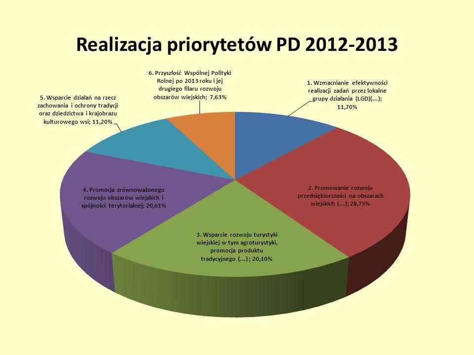 Realizacja priorytetów PD 2012-2013
