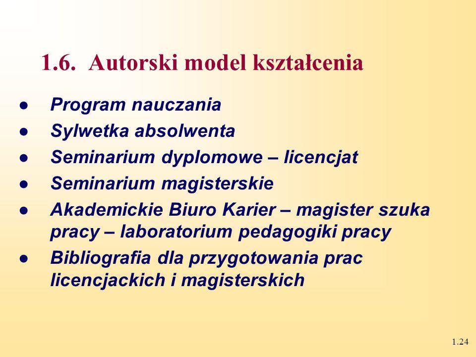 1.23 Metodologia pedagogiki pracy Metody PP Foresight i aspekt międzynarodowych badań Metody badań pedagogicznych Metody badań pracy, organizacji zarz