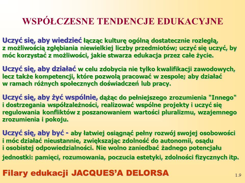 1.39 Pytania kontrolne 1.Pedagogika pracy w systemie nauk 2.