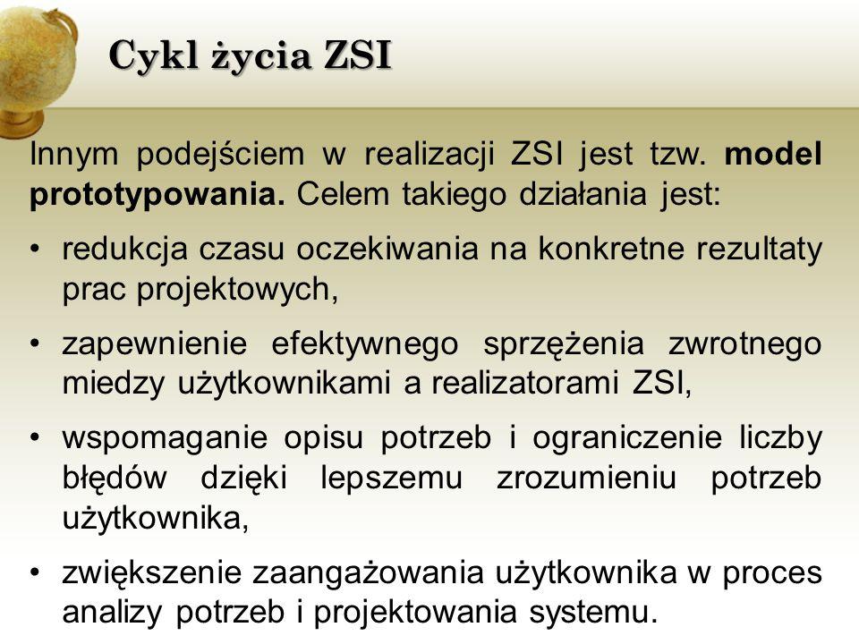 Innym podejściem w realizacji ZSI jest tzw.model prototypowania.