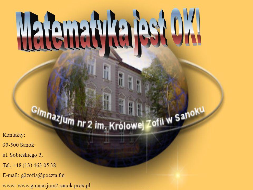 Kontakty: 35-500 Sanok ul.Sobieskiego 5. Tel.