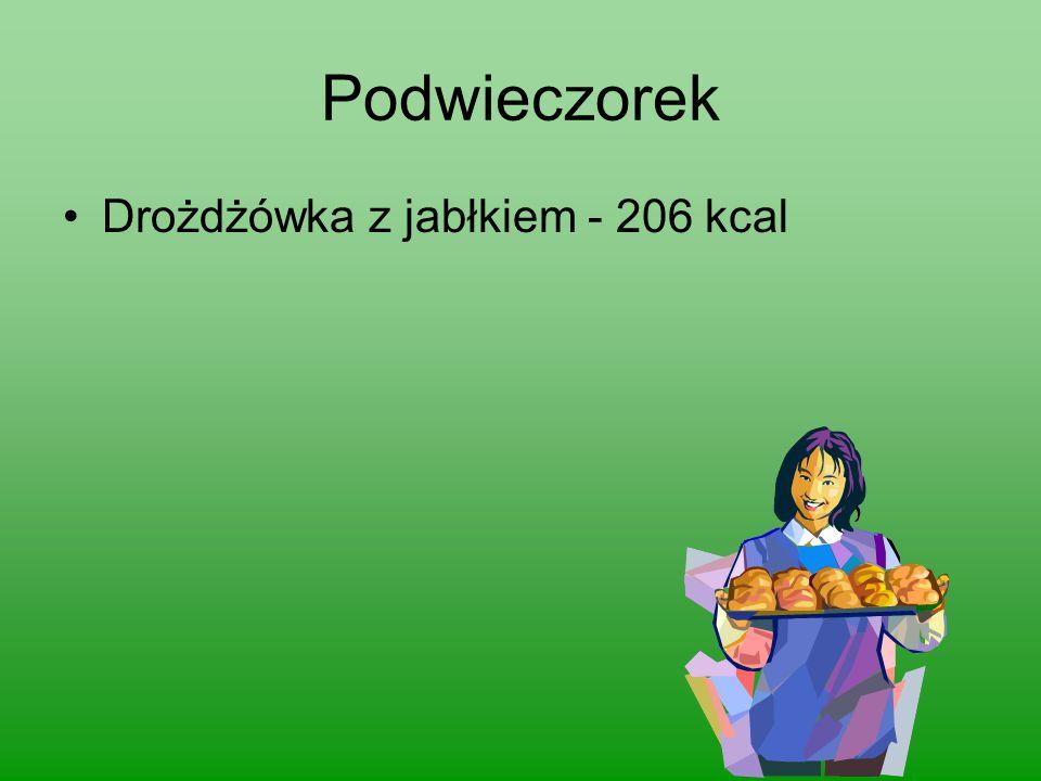 Podwieczorek Drożdżówka z jabłkiem - 206 kcal