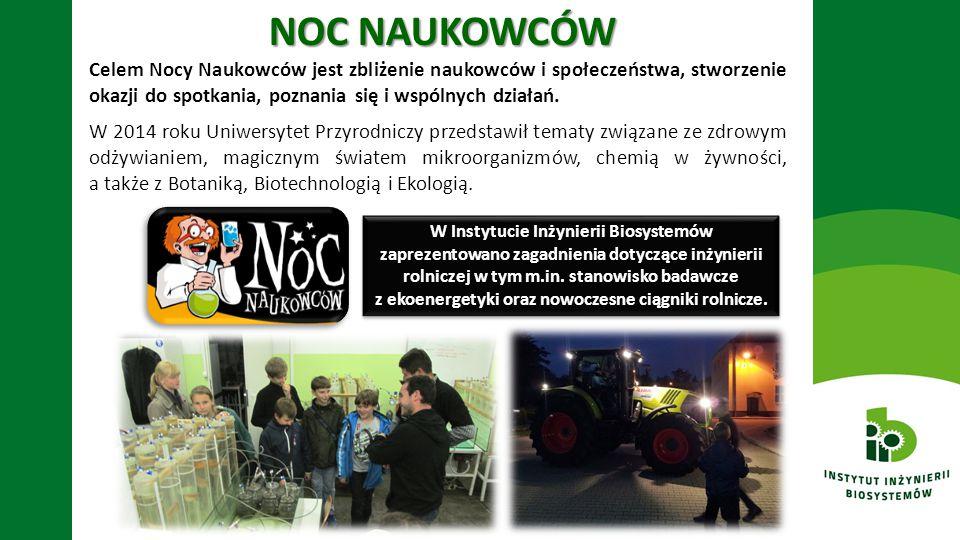 NOC NAUKOWCÓW Celem Nocy Naukowców jest zbliżenie naukowców i społeczeństwa, stworzenie okazji do spotkania, poznania się i wspólnych działań. W 2014