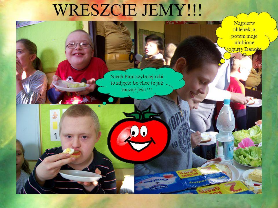 WRESZCIE JEMY!!! Najpierw chlebek, a potem moje ulubione jogurty Danone Niech Pani szybciej robi to zdjęcie bo chce to już zacząć jeść !!!