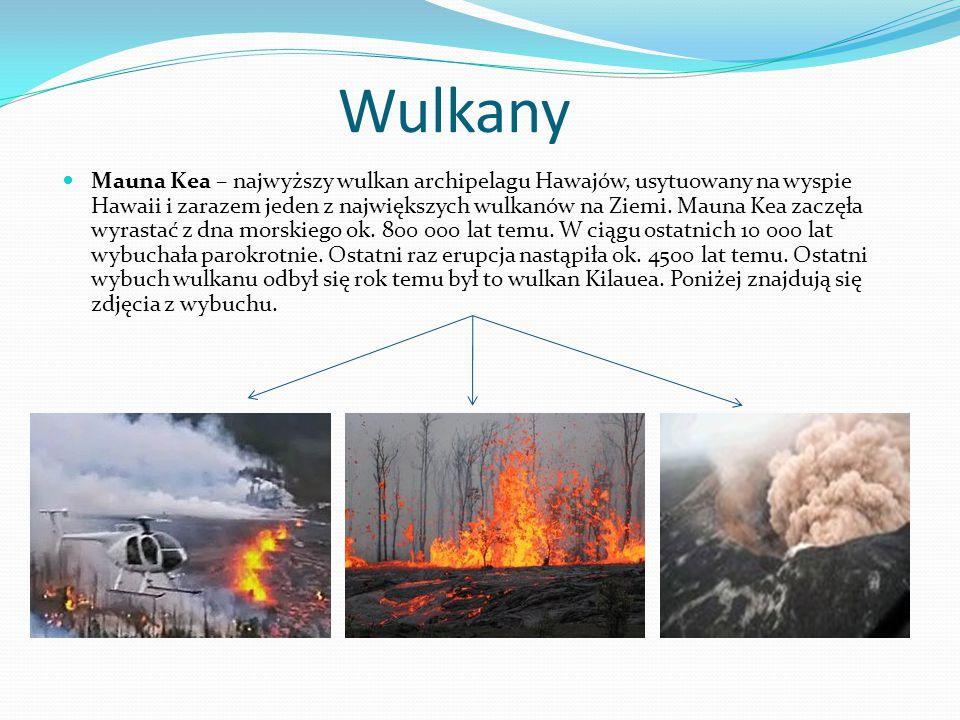 Wulkany Mauna Kea – najwyższy wulkan archipelagu Hawajów, usytuowany na wyspie Hawaii i zarazem jeden z największych wulkanów na Ziemi. Mauna Kea zacz