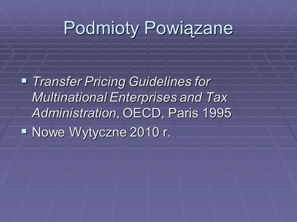Podmioty Powiązane  Podmiot A jest producentem towaru i sprzedaje go za 100 j.p.