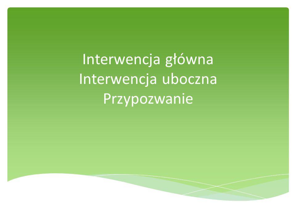 Interwencja główna Interwencja uboczna Przypozwanie