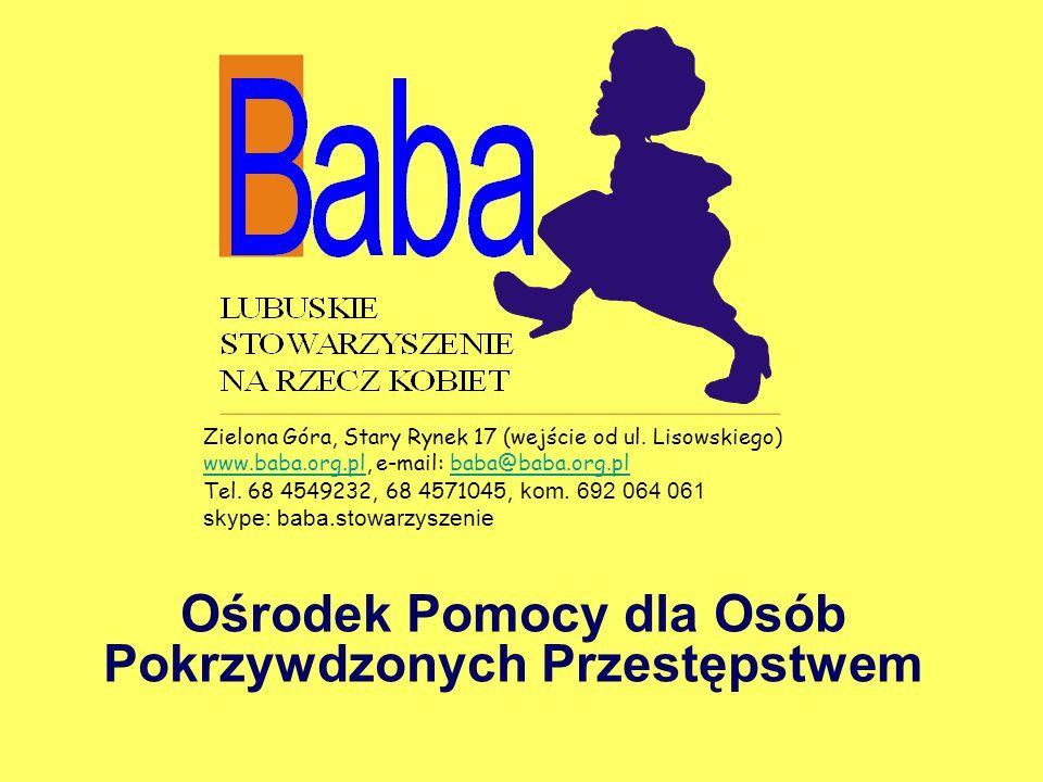 Ośrodek Pomocy dla Osób Pokrzywdzonych Przestępstwem Zielona Góra, Stary Rynek 17 (wejście od ul.