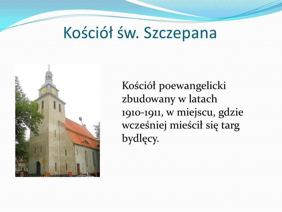 Kościół św. Szczepana Kościół poewangelicki zbudowany w latach 1910-1911, w miejscu, gdzie wcześniej mieścił się targ bydlęcy.