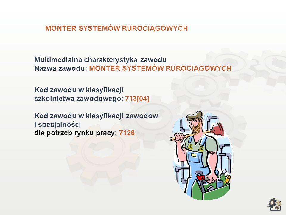 Monter systemów rurociągowych wersja dla gimnazjów i szkół ponadgimnazjalnych