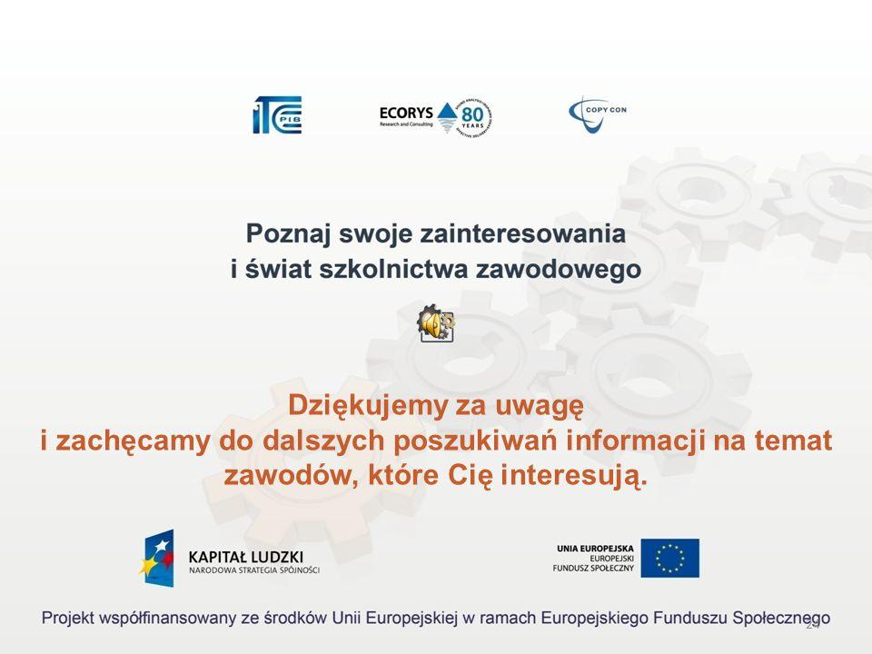 23 III. Przy opracowywaniu charakterystyki wykorzystaliśmy poniższe źródła informacji: http://www.koweziu.edu.pl/programy/programy.php (7 grudnia 2009