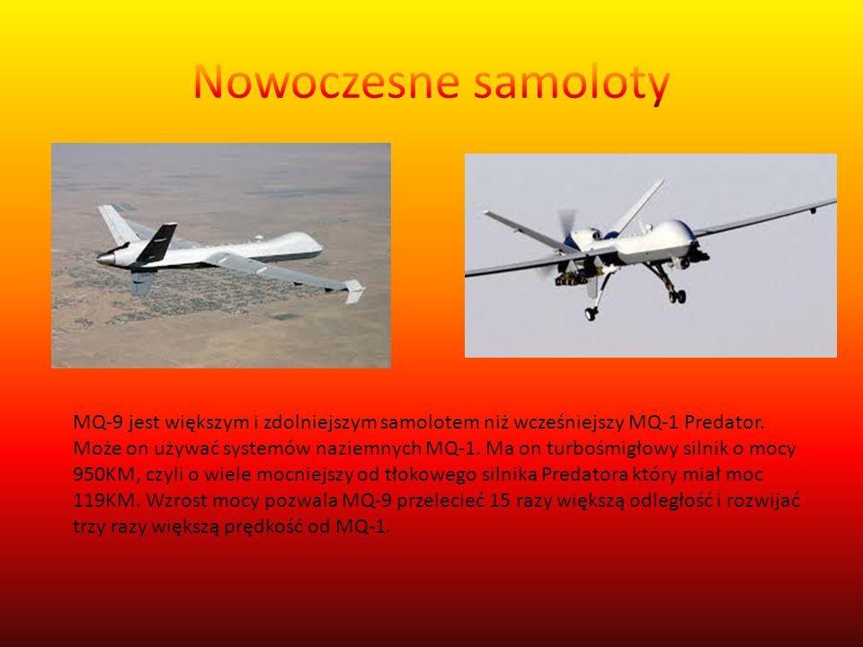 MQ-9 jest większym i zdolniejszym samolotem niż wcześniejszy MQ-1 Predator.