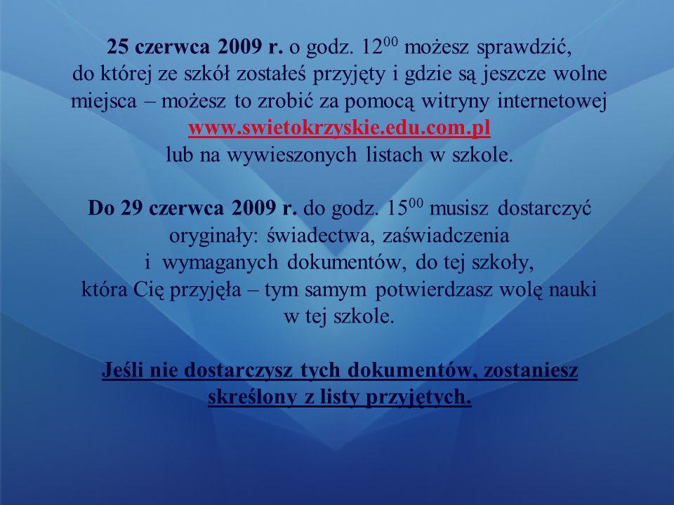 Na stronie www.swietokrzyskie.edu.com.pl wypełnij kwestionariusz kandydata do klasy pierwszej, możesz wpisać w nim maksymalnie 3 szkoły, w których chciałbyś się uczyć, w każdej ze szkół możesz wybrać dowolną liczbę oddziałów.