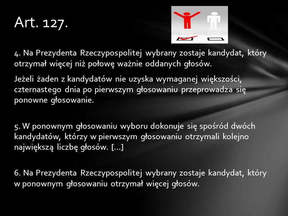 Urząd Prezydenta, sposób jego wybierania, odwołania i kompetencje opisane są w Konstytucji Rzeczypospolitej Polskiej w rozdziale V (art.