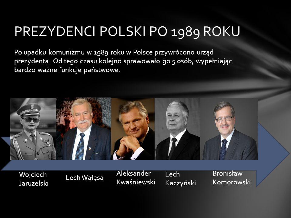Po upadku komunizmu w 1989 roku w Polsce przywrócono urząd prezydenta.