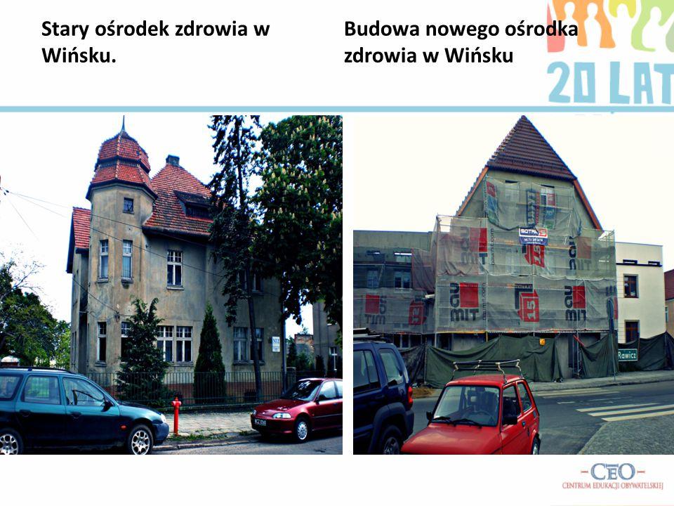 Stary ośrodek zdrowia w Wińsku. Budowa nowego ośrodka zdrowia w Wińsku