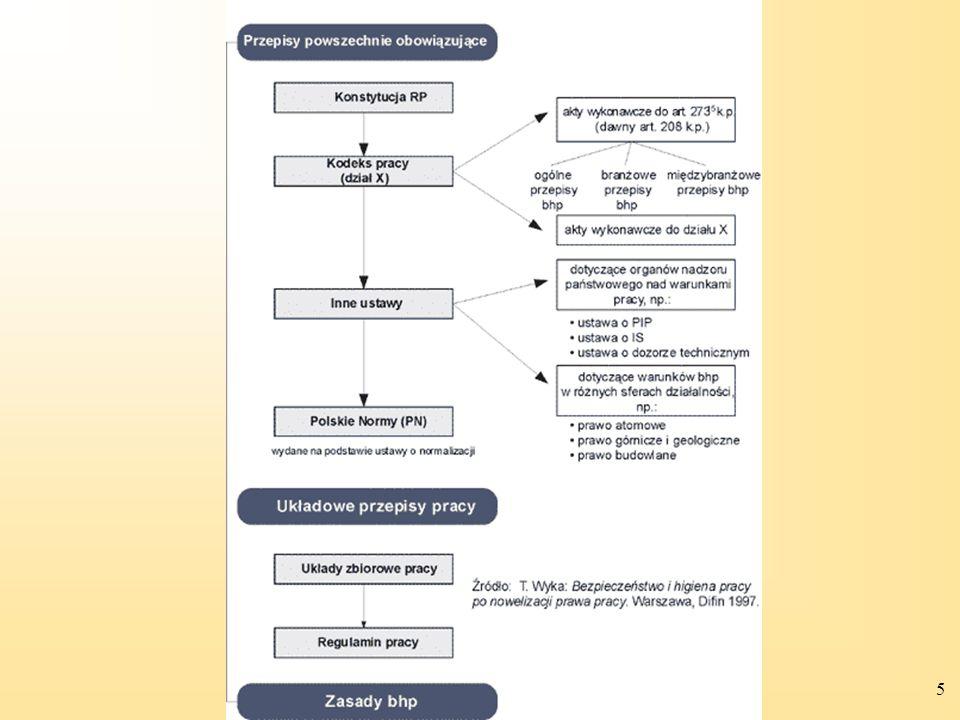 6 Uproszczony schemat organizacji systemu ochrony pracy (źródło opracowania CIOP–PIB)