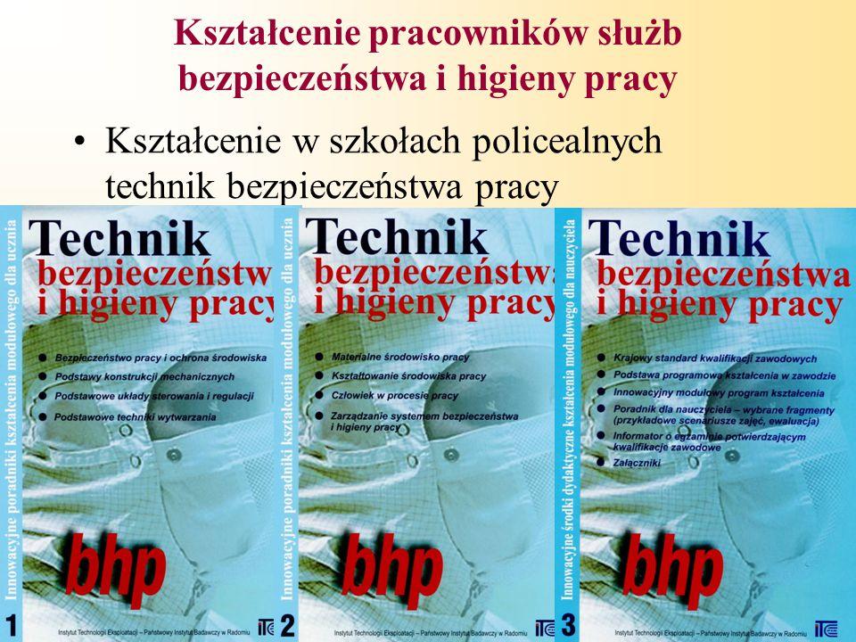 7 Kształcenie pracowników służb bezpieczeństwa i higieny pracy Kształcenie w szkołach policealnych technik bezpieczeństwa pracy