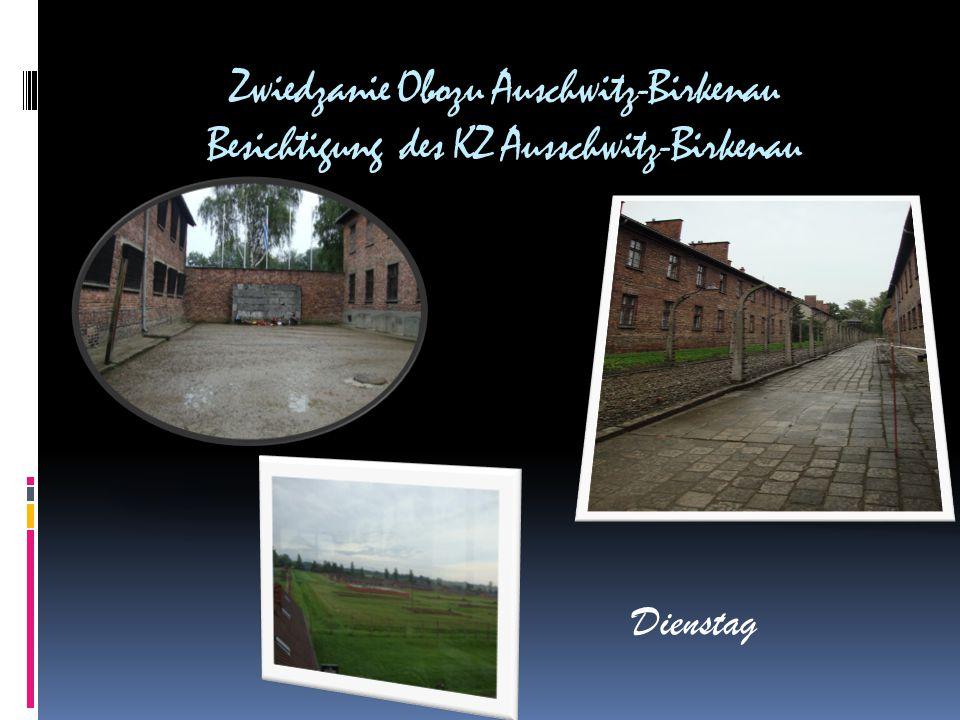 Zwiedzanie Obozu Auschwitz-Birkenau Besichtigung des KZ Ausschwitz-Birkenau Dienstag