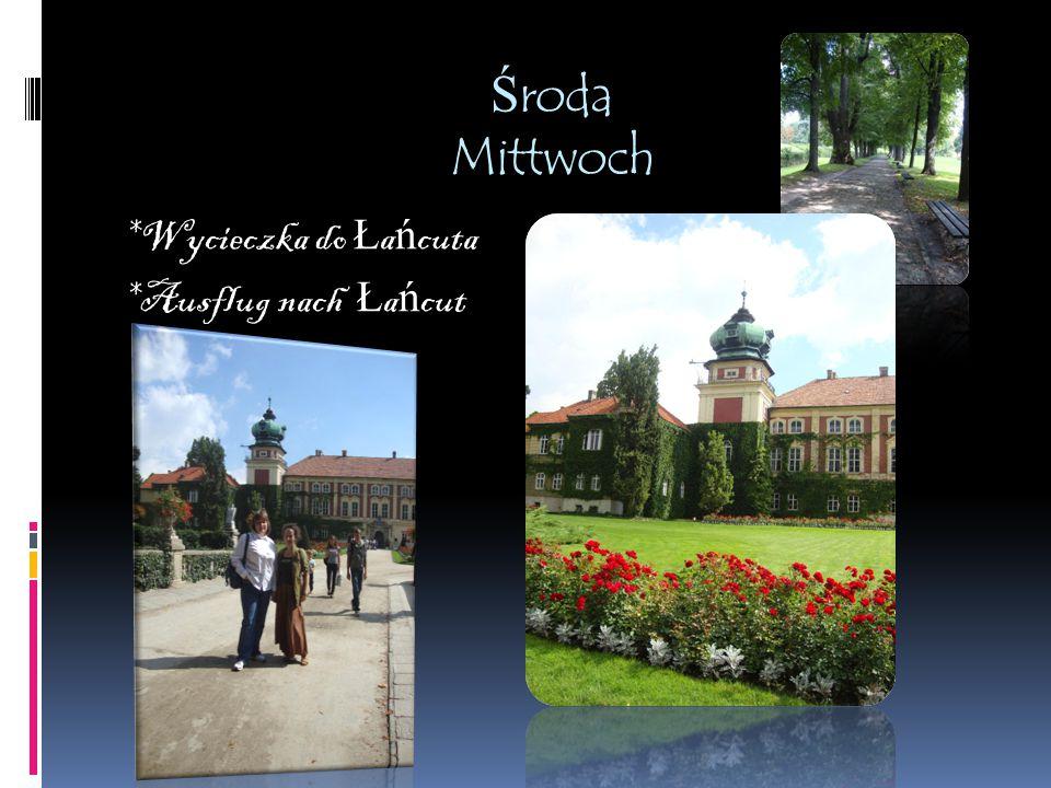 Zwiedzanie Rzeszowa Besichtigung der Stadt Rszeszów Mittwoch