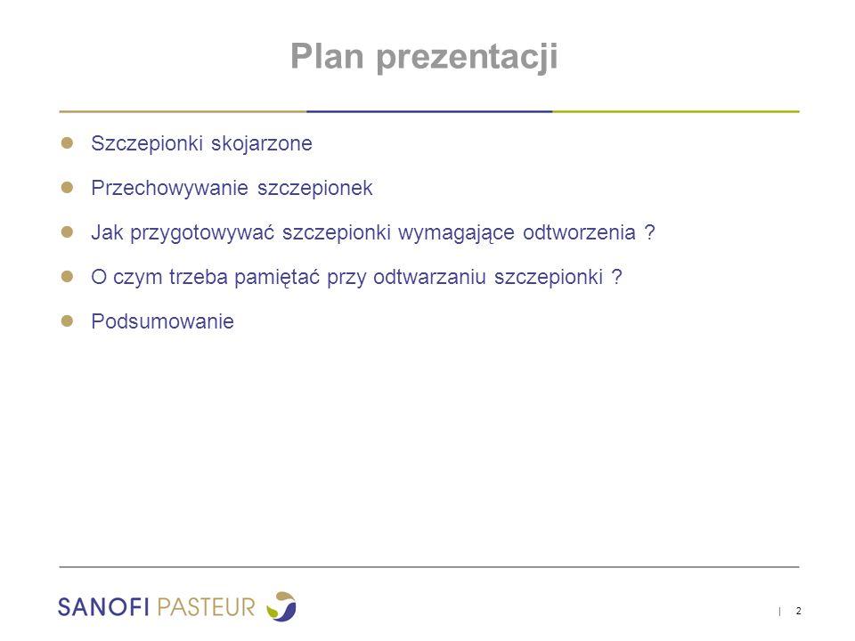 Plan prezentacji ● Szczepionki skojarzone ● Przechowywanie szczepionek ● Jak przygotowywać szczepionki wymagające odtworzenia ? ● O czym trzeba pamięt