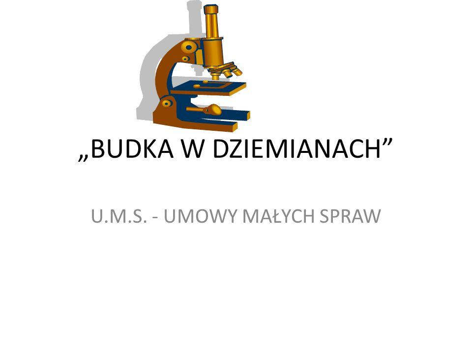 """""""BUDKA W DZIEMIANACH U.M.S. - UMOWY MAŁYCH SPRAW"""