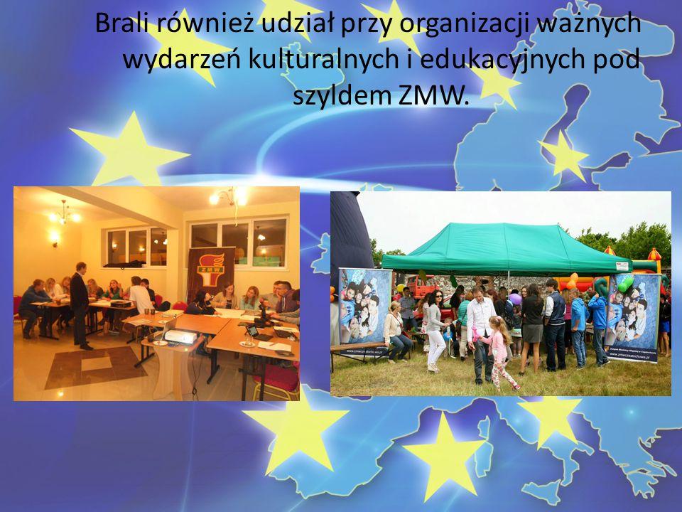 Brali również udział przy organizacji ważnych wydarzeń kulturalnych i edukacyjnych pod szyldem ZMW.