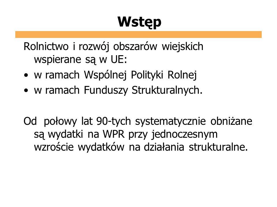 Cele WPR Podstawa Wspólnej Polityki Rolnej - Traktat Rzymski z 25 marca 1957.