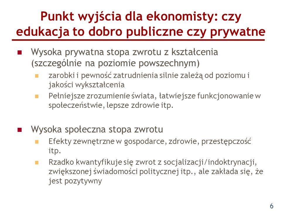 Besley, Ghatak, QJE 2001 Różnica między dobrem prywatnym a publicznym w przypadku niekompletnego kontraktu.