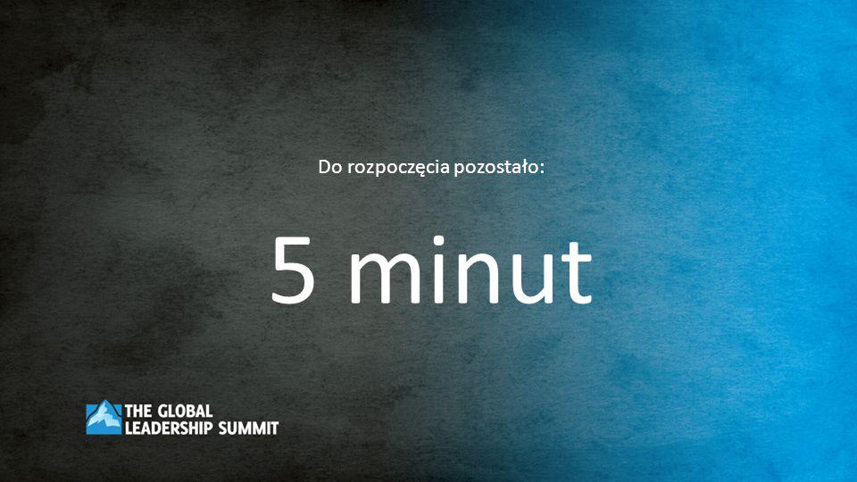 Do rozpoczęcia pozostało: 5 minut