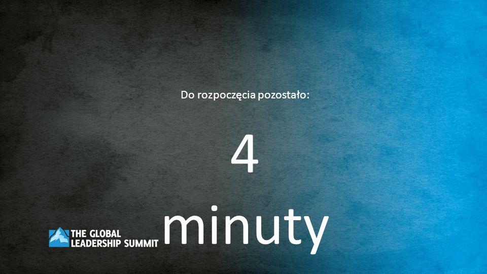 Do rozpoczęcia pozostało: 3 minuty