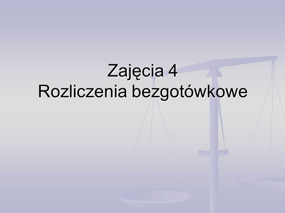 Rozliczenia bezgotówkowe Ustawa o NBP Ustawa o NBP Ustawa prawo bankowe Ustawa prawo bankowe Ustawa o swobodzie działalności gospodarczej Ustawa o swobodzie działalności gospodarczej NBP Banki komercyjne KIR First Data Polska KDPWZBPKNF