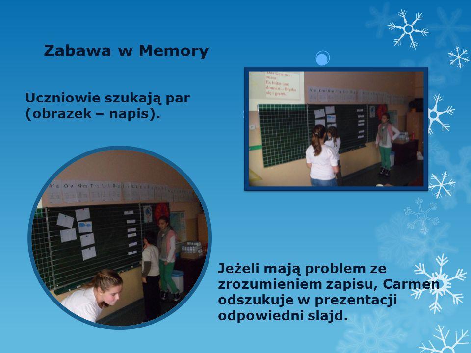 """Podsumowanie zajęć -wypowiedzi uczniów """" Mi się podobało łączenie obrazków z odpowiednim napisem."""