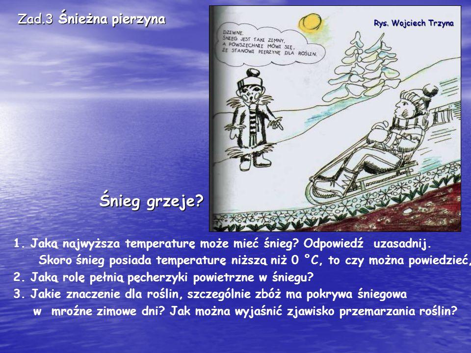 Rys. Wojciech Trzyna 1. Jaką najwyższa temperaturę może mieć śnieg.
