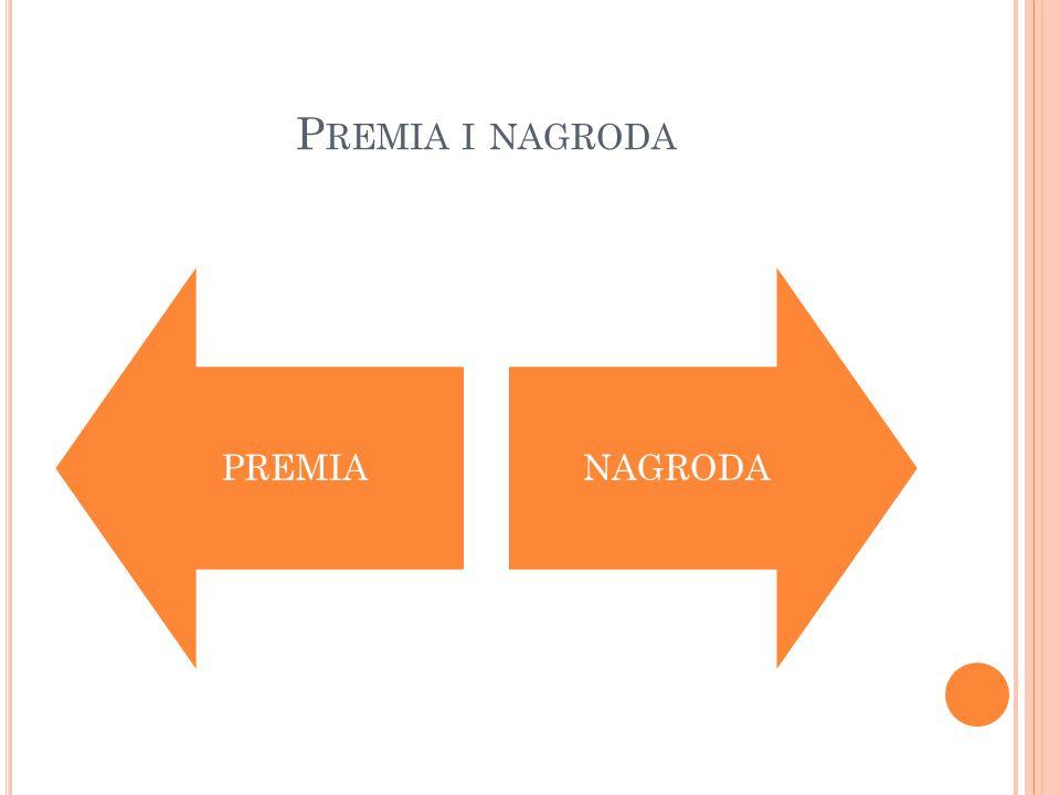 P REMIA I NAGRODA PREMIANAGRODA