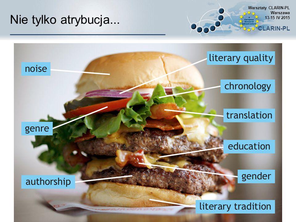 Nie tylko atrybucja... Warsztaty CLARIN-PL Warszawa 13-15 IV 2015 CLARIN-PL