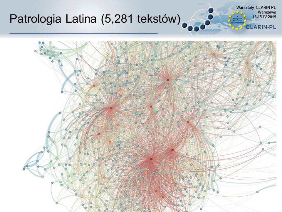 Patrologia Latina (5,281 tekstów) Warsztaty CLARIN-PL Warszawa 13-15 IV 2015 CLARIN-PL
