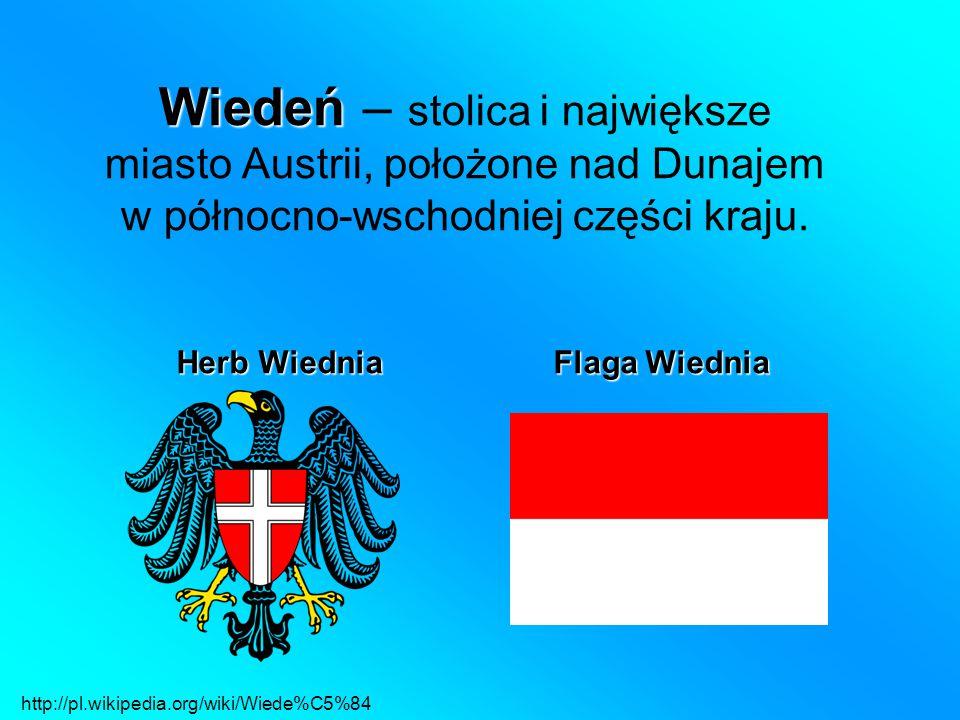Wiedeń Wiedeń – stolica i największe miasto Austrii, położone nad Dunajem w północno-wschodniej części kraju.