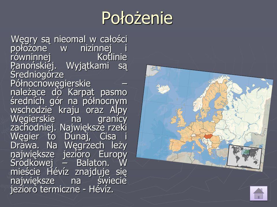Położenie Węgry są nieomal w całości położone w nizinnej i równinnej Kotlinie Panońskiej. Wyjątkami są Średniogórze Północnowęgierskie – należące do K
