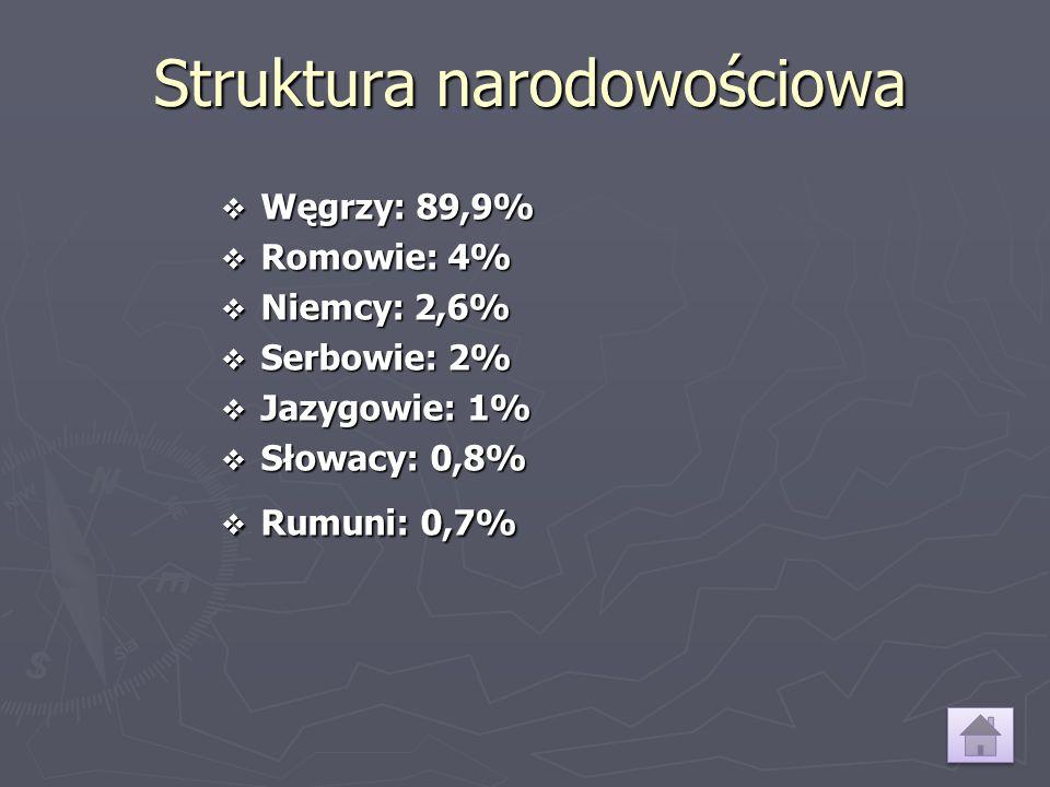 Struktura wyznaniowa ► Rzymskokatolicy: 51,9% ► Ateiści: 24,6% ► Kalwini: 15,9% ► Luteranie: 3,0% ► Unici (Grekokatolicy): 2,6% ► Wolnomyśliciele: 0,7% ► Zielonoświątkowcy: 0,6% ► Świadkowie Jehowy: 0,2% ► Unia Baptystystyczna: 0,2% ► Prawosławni: 0,2% ► Żydzi: 0,1%