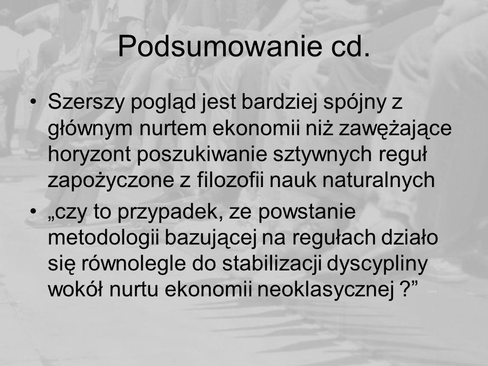 Podsumowanie cd.