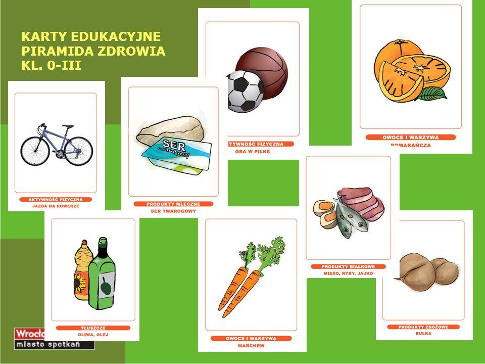 KARTY EDUKACYJNE PIRAMIDA ZDROWIA KL. 0-III