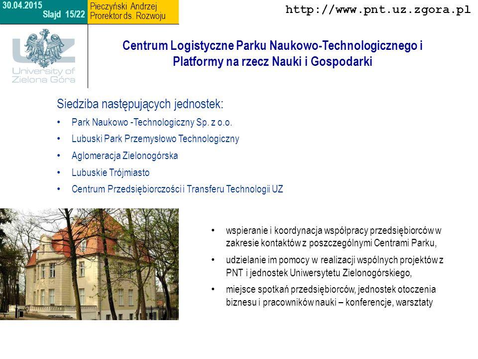 Centrum Zrównoważonego Budownictwa i Energii Opiekun: dr hab.