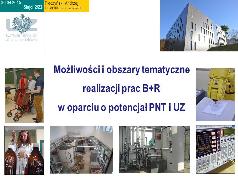 27th.http://www.uz.zgora.pl 30.04.2015 Slajd 3/22 Pieczyński Andrzej Prorektor ds.